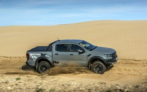 Picture the sky, grey, speed, Ford, Raptor, Sands, pickup, Ranger, 2019