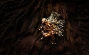 Picture girl, roots, darkness, style, fantasy, lies, image, long hair, nymph, photoart, Kindra Nikole