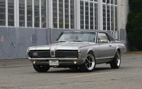 Picture Cougar, 1967, Silver, Mercury, Muscle classic