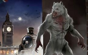 Picture London, The moon, The engine, Werewolf, A werewolf