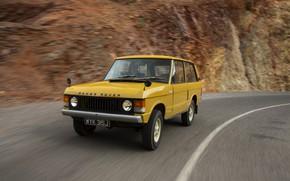 Picture road, movement, Land Rover, Range Rover, 1970, 4x4, SUV
