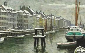 Picture Danish painter, Copenhagen, Copenhagen, Danish painter, Paul Gustav Fischer, Paul Gustav Fischer, Paul Fischer, Paul …
