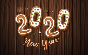 Picture holiday, New year, Christmas, cakes, New Year, 2020