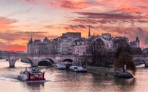 Picture Paris, Sunrise, Île-de-France, Paris 04 Old - District Louvre