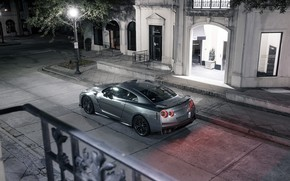 Picture Auto, The city, Machine, Grey, Car, Car, Render, R35, Rendering, Nissan GT-R, Sports car, Grey, …