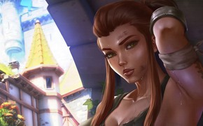 Picture girl, Overwatch, Brigitte, by Dandonfuga
