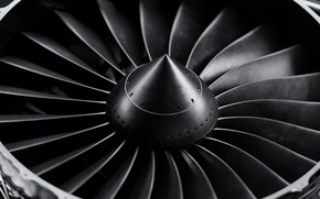 Picture The plane, Engine, Aviation, Turbine, Aircraft, Blades, By mentat3d, mentat3d, Aircraft Engine