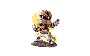 Picture white ranger, Derek Laufman, Power rangers