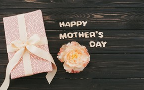 Picture flower, gift, Happy, Mother's Day, Gift box, mothers day