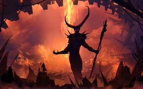 Picture Figure, Monster, Silhouette, The demon, Landscape, Art, Landscapes, Digital Art, The devil, TacoSauceNinja, by TacoSauceNinja, …