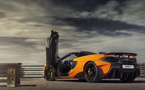 Picture McLaren, supercar, Spider, 2019, 600LT, Myan Orange