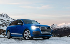 Picture Audi, Blue, Snow, SQ7