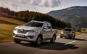 Picture grey, track, Renault, brown, 4x4, 2017, Alaskan, pickups