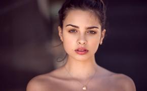 Picture look, background, model, portrait, makeup, hairstyle, brown hair, beauty, bokeh, Zubair Aslam, Jazmin