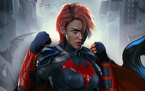 Picture look, pose, art, costume, art, stand, hair, look, pose, costume, stand, Batwoman, Ruby Rose, Ruby ...