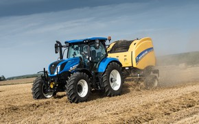 Picture field, tractor, New Holland, T6.175