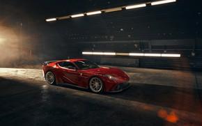 Picture lights, hangar, Ferrari, sports car, Superfast, 812, Novitec N-Largo