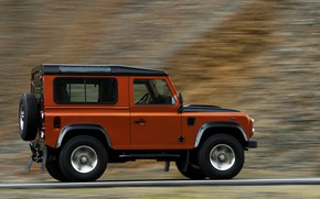 Picture Land Rover, in motion, 2009, Defender, Limited Edition