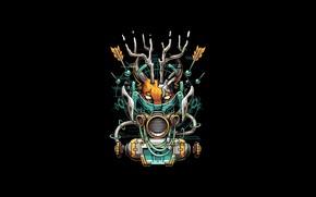 Picture Art, Robot, Machine, Vector, Background, Illustration, Minimalism, Caracal, Cyber, Angga Tantama