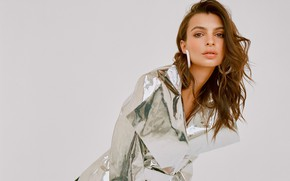 Picture look, pose, model, cloak, Emily Ratajkowski