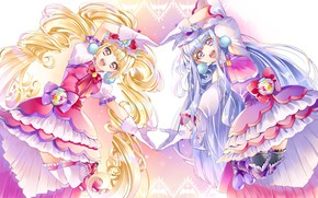 Picture Anime, Girls, Dresses, Precure