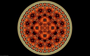 Picture background, pattern, round, symmetry