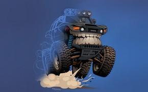 Wallpaper Auto, Minimalism, Machine, Teeth, Background, Toyota, Car, Art, Illustration, Transport, Grin, Vehicles, Creatures, Transport, Transport ...