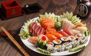 Picture fish, figure, sushi, cuts