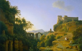 Picture landscape, oil, picture, canvas, 1818, Joseph August Knip, Joseph Augusta Knipe, The Bay of Naples …