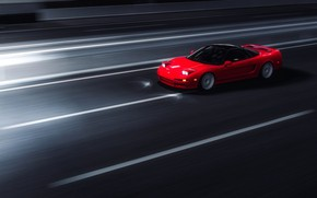 Picture Red, Auto, Night, The game, Machine, Style, Red, Honda, Night, Sports car, Sportcar, Honda NSX, …
