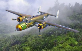 Picture USA, Bomber, B-25, US Air Force, B-25D