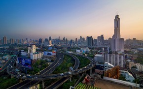 Picture the city, morning, Thailand, Bangkok