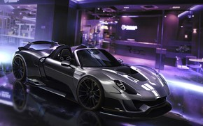 Picture Auto, Porsche, Machine, Car, Supercar, Sports car, Porsche 918, Porsche 918 Spyder, Transport & Vehicles, …