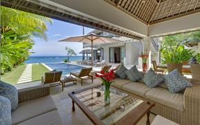 Picture Villa, interior, pool, terrace, Bali, Candi Dasa, Bakung Beach