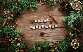 Picture tree, New Year, Christmas, Christmas, bumps, wood, New Year, decoration, Merry, fir tree, fir-tree branches