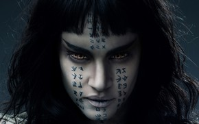 Picture eyes, look, hair, tattoo, characters, Sofia Boutella, Sofia Boutella, The Mummy, Pico, Mummy, the Princess …