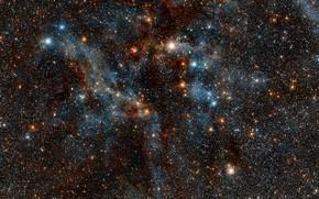 Picture Nebula, NGC 3372, Infrared, Diffuse nebulae, Constellation of Carina, Region of the Carina Nebula