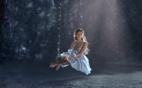 Picture swing, mood, girl