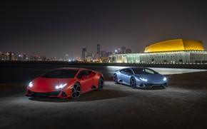 Picture Lamborghini, pair, Evo, supercars, Huracan, 2019, Lamborghini Huracan Evo
