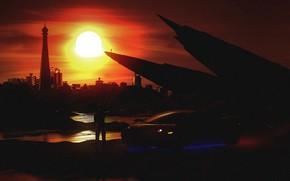 Picture Sunset, The sun, Auto, Music, The city, Lamborghini, People, Machine, Style, Gallardo, Sun, Style, Neon, …