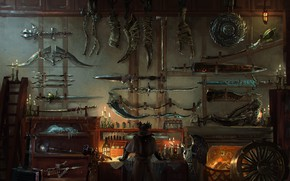 Picture weapons, sword, workshop, weapon, bloodborne