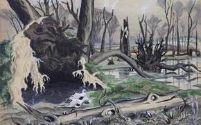 Picture 1918, Charles Ephraim Burchfield, Swamp in Spring