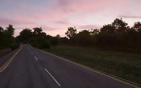 Picture road, sunset, the evening, forza horizon 4
