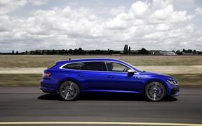 Picture blue, Volkswagen, side, universal, Shooting Brake, 2020, Arteon, Shooting Brake R, Arteon R