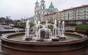 Picture fountain, Belarus, Grodno