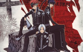 Picture form, guys, trio, D. Gray-man