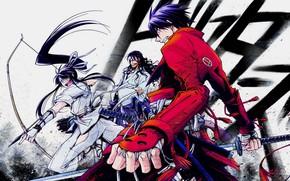 Picture weapons, anime, art, manga, samurai, Drifters