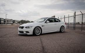 Picture bmw, white, wheels, e92