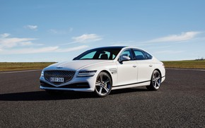 Picture white, AU-spec, Genesis, 2020, G80, 3.5T AWD, (RG3)