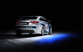Picture racing car, spoiler, rear view, 2018, Race Car, Geely, Emgrand GL